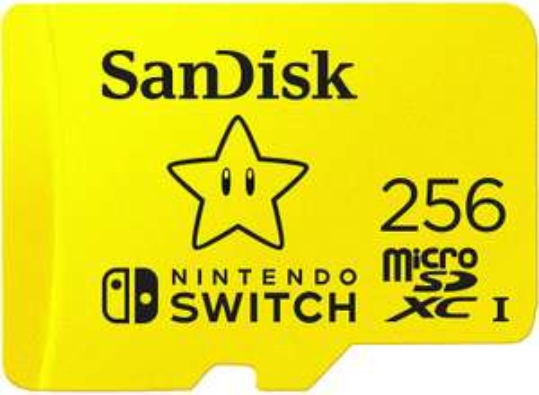 [Prime DE] Carte microSDXC SanDisk pour Nintendo Switch - 256Go