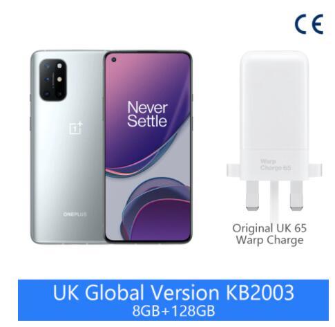 "Smartphone 6.55"" OnePlus 8T 5G (Version UK) - 8 Go RAM, 128 Go (Entrepôt France - 324€ avec le code AESOLDES25)"