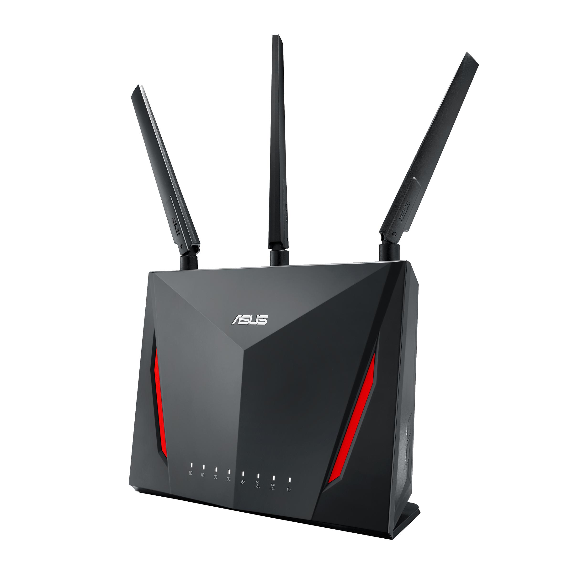 [Prime] Routeur Asus RT-AC86U Wi-Fi Ai mesh / AC 2900 Mbps Double Bande MU-MIMO (Via ODR de 40€)