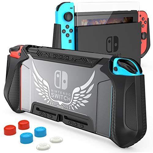 [Prime] Coque de protection pour Nintendo Switch (Compatible Dock) + Verre trempé (vendeur tiers)