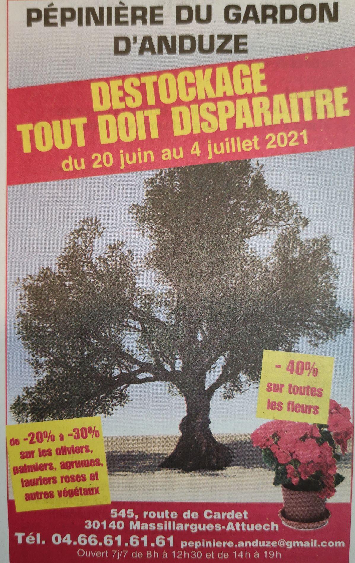 Jusqu'à 30% de réduction sur les arbres - Pépinière du Gardon d'Anduze Massillargues-Attuech (30)