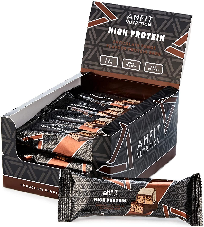 [Prime] Pack de 12 barres protéinées au chocolat - 12 x 60g, 19.6gr protéine / 0.8gr sucre