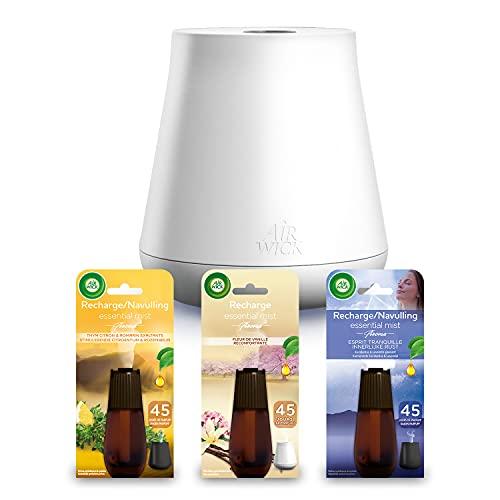[Prime] Diffuseur d'Huiles Essentielles Air Wick Essential Mist + 3 recharges Thym/Lavande/Vanille