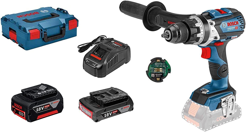 [Prime DE] Perceuse à Percussion sans-fil Bosch Pro GSB 18 V-85 C - 18V, 1 batterie 5,0 Ah, 1 batterie SL 3,0 Ah, 1 chargeur, L-Boxx