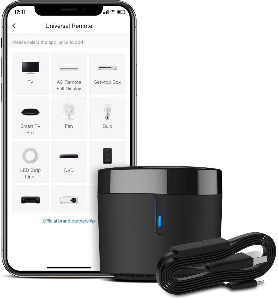 [Prime] Hub de télécommande IR Universel BroadLink RM4 Mini S avec câble USB (Vendeur Tiers)