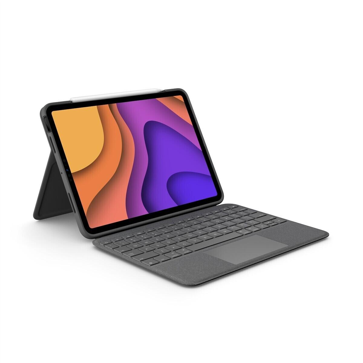 Étui de protection avec clavier pour tablette tactile Apple iPad Air 4 Logitech Folio Touch