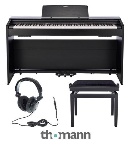 Kit piano numérique Casio PX-870 BK Privia + Banc Thomann KB-47BM + Casque the t.bone HD 200