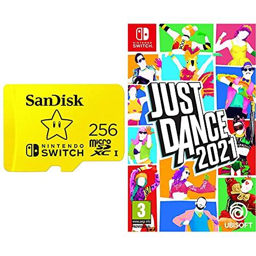 [Prime] Carte mémoire MicroSDXC SanDisk Switch - 256 Go + Jeu Just Dance 21 sur Switch