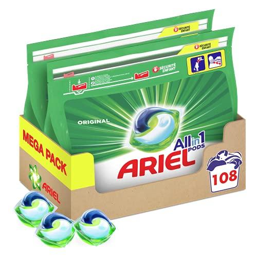[Prime] Lot de 2 boites de lessive en capsules Ariel All-in-1 - 2 x 54 lavages