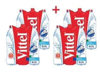 4 Packs de Bouteille d'eau Vittel - 24x2L