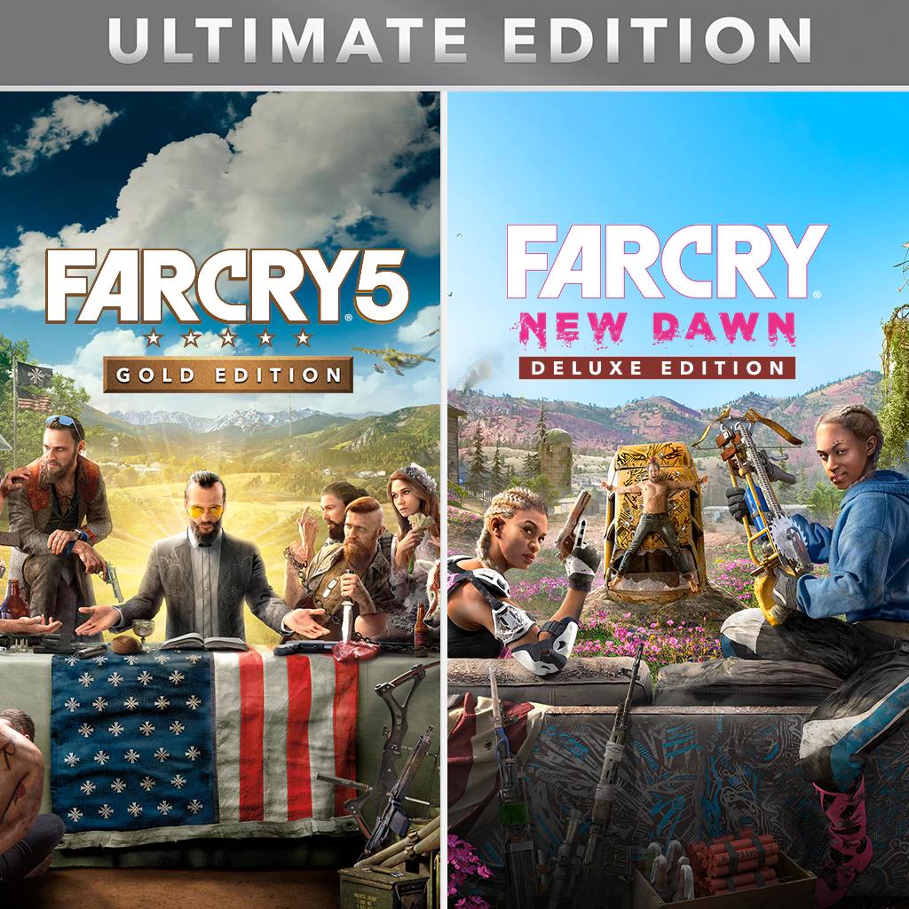 Far Cry Édition Ultimate - FC 5 Édition Gold (jeu + SP) + FC New Dawn Édition Deluxe + FC 3 Classic sur Xbox One (dématérialisés, store BR)