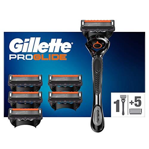 [Prime] Rasoir Homme Gillette Fusion 5 Proglide Technologie Flexball + 6 Lames de Recharges