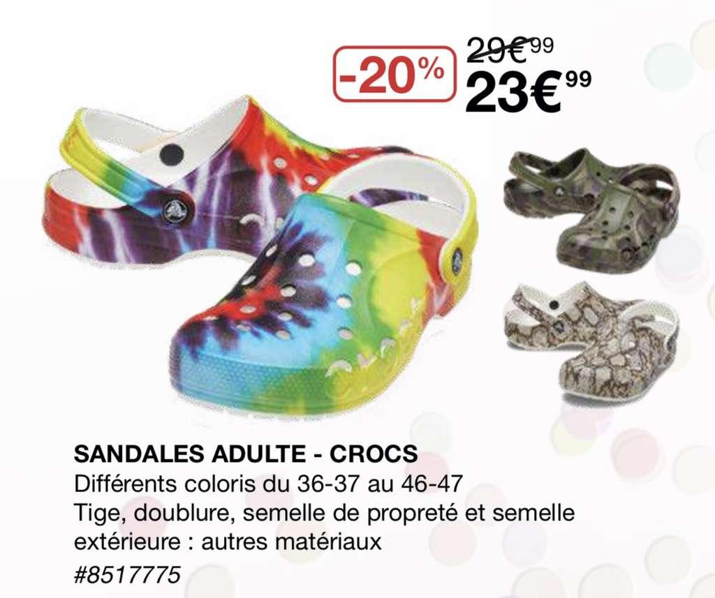 [Carte CostCo] Sandales Crocs - différents coloris (du 36 au 47) - Villebon-sur-Yvette (91)