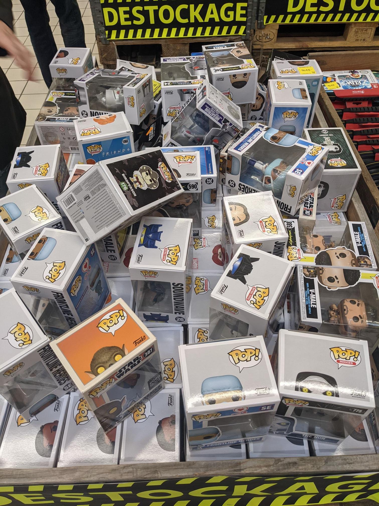Sélection de figurines Funko Pop en promotion - Auchan englos (59)