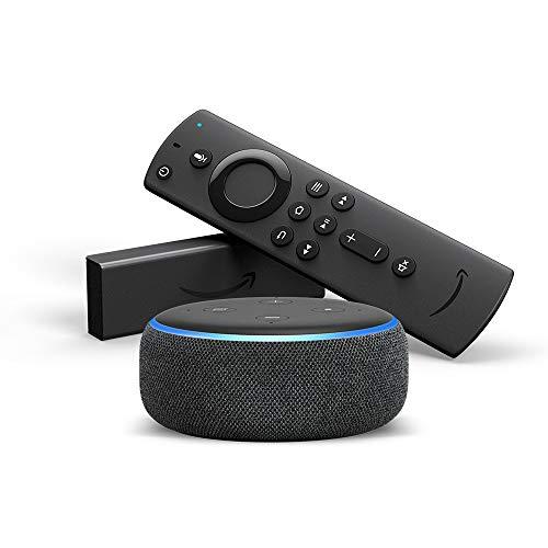 [Prime] Enceinte connectée Echo Dot (3ème génération) + Clé multimedia Fire TV Stick 4K
