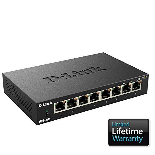 [Prime] Switch D-Link DGS-108 Gigabit - 8 Ports