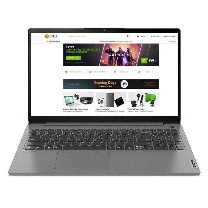 "PC Portable 15.6"" Lenovo IdeaPad 3 - Ryzen 7 5700U, 12 Go de Ram, 1 To SSD, Clavier QWERTY"