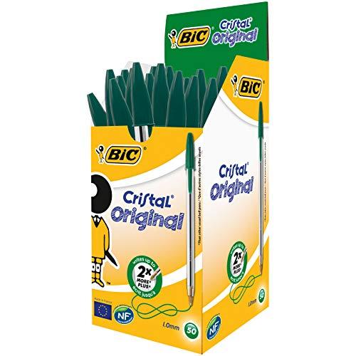 Boîte de 50 Stylos BIC verts