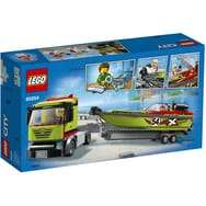 LEGO City 60254 - Le Transport du Bateau de Course (via 14€ sur Carte Fidélité)