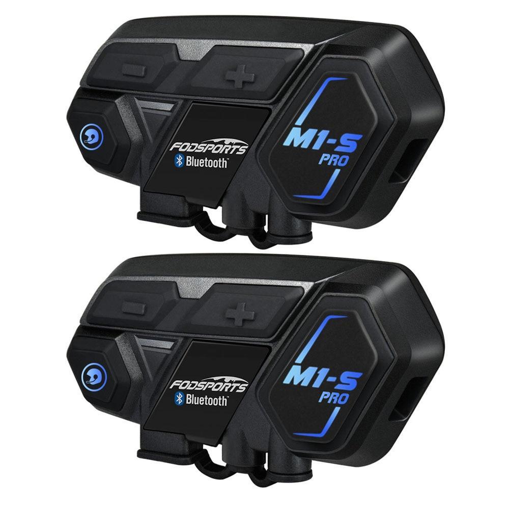 Pack de 2 kits de communication moto Fodsports M1-S Pro Pack Duo (90.56€ via 10AESELECTED)