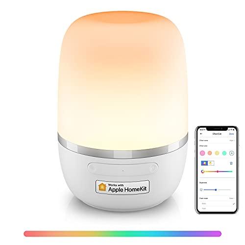 Lampe de chevet/Veilleuse LED RGB connectée Meross MSL420HK - Compatible Apple Homekit, Alexa, Google Home et SmartThings (Vendeur Tiers)