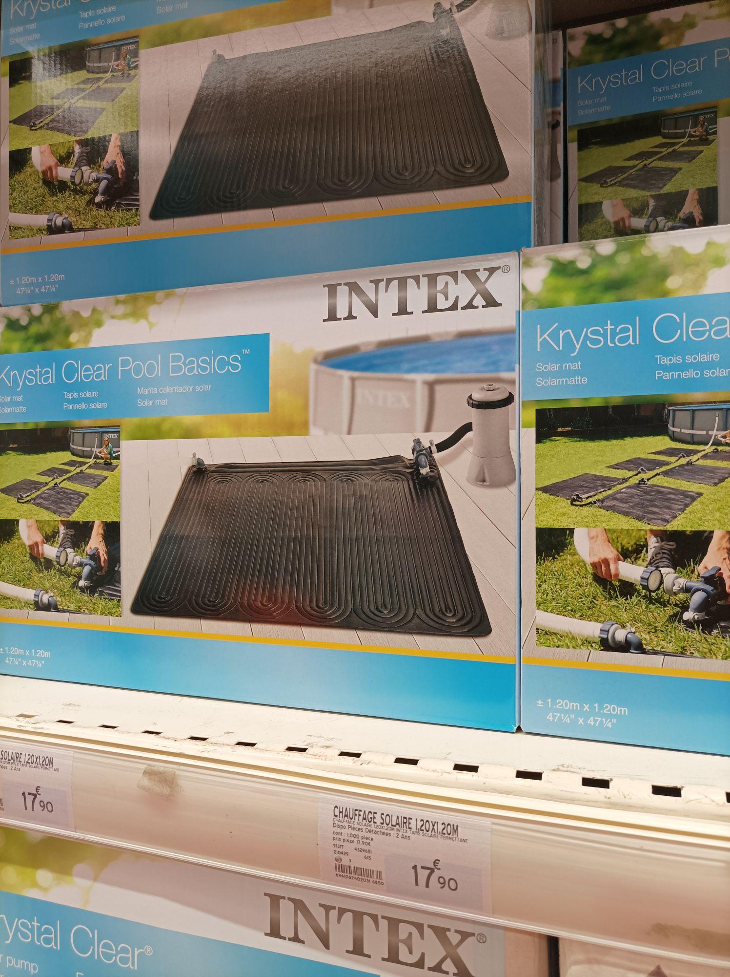 Tapis solaire pour piscine Intex Krystal Clear Pool Basics (1.2x1.2 m) - Évron (53)