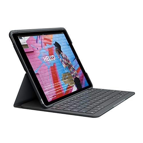 """Étui de protection avec clavier pour tablette tactile Apple iPad 10.2"""" Logitech Slim Folio - QWERTY"""