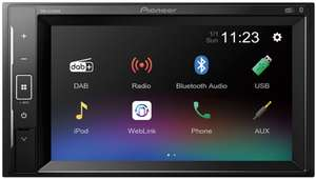 "Autoradio avec écran 6.2"" Pioneer DMH-A240DAB - Mirroring, 4x50 W RMS"