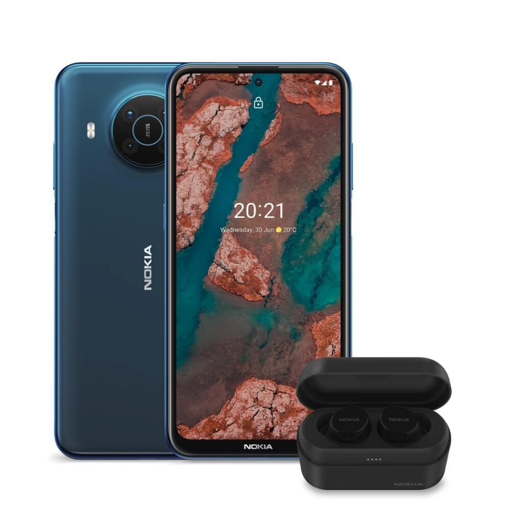 """Smartphone 6.67"""" Nokia X20 5G (full HD+, SnapDragon 480, 8 Go de RAM, 128 Go) + écouteurs Nokia Power Earbuds - Nokia.com"""
