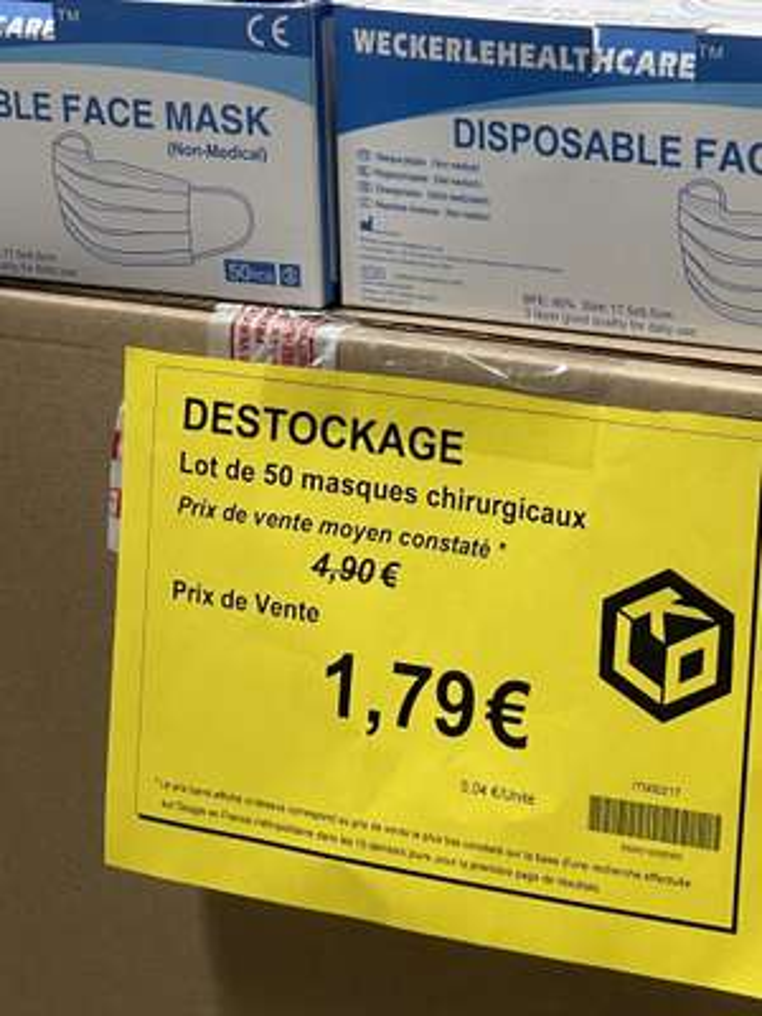 Lot de 50 masques chirurgicaux - KLO Lorient (56)