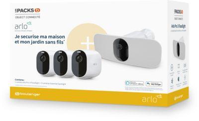 Pack Caméra de surveillance Arlo - 1 caméra Pro 3 Floodlight et 3 caméras Essential Spotlight