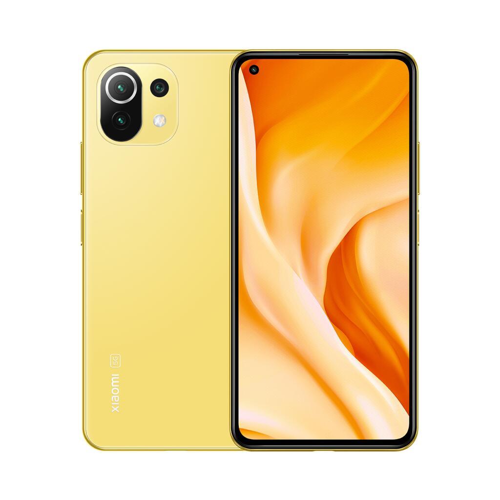 "Smartphone 6.55"" Xiaomi Mi 11 Lite 5G - 8Go RAM, 128 Go, Jaune citron"