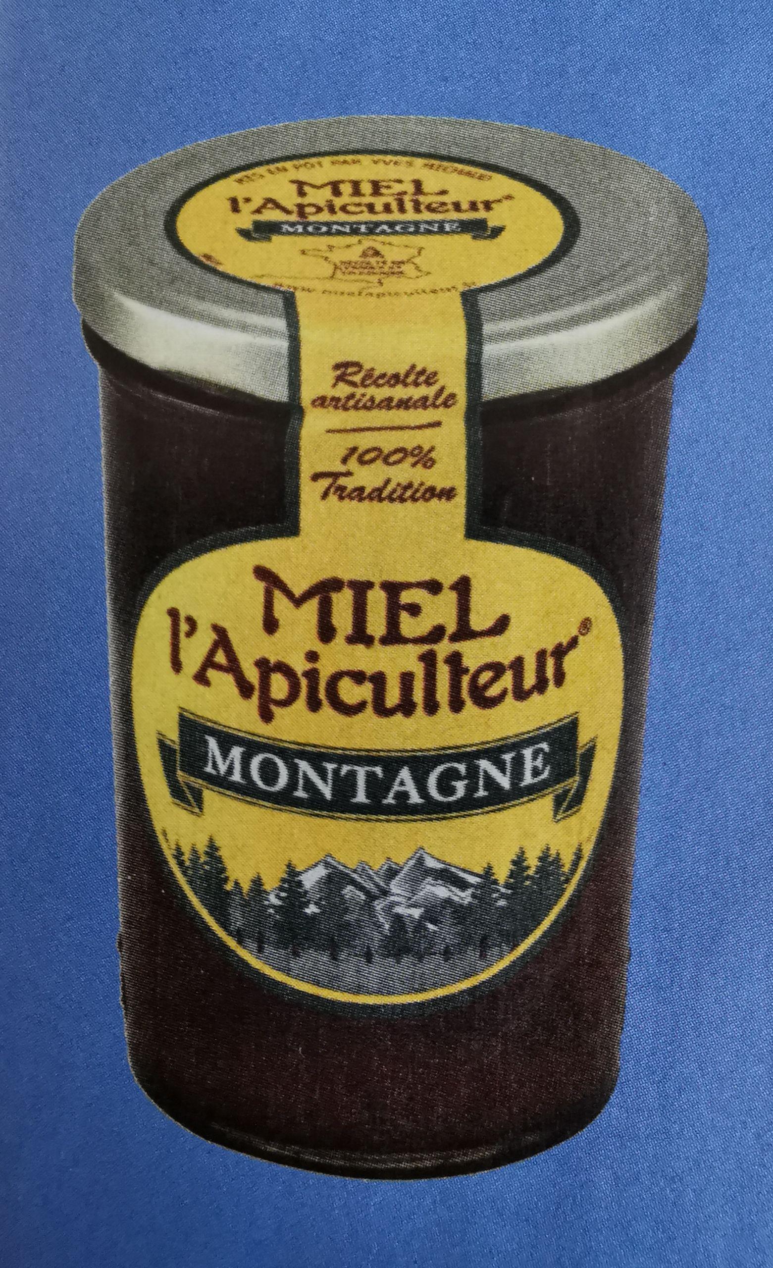 Pot de miel de montagne Miel L'Apiculteur - liquide ou crémeux (500g)