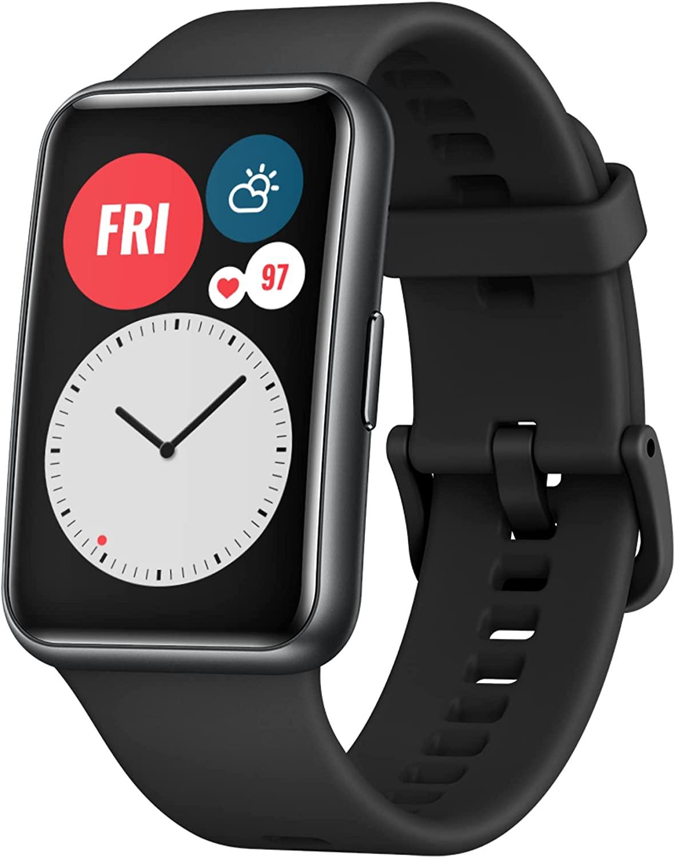"""Montre connectée Huawei Watch Fit - Écran AMOLED 1,64"""", Verre incurvé 2,5D, Différents coloris (Entrepôt France)"""