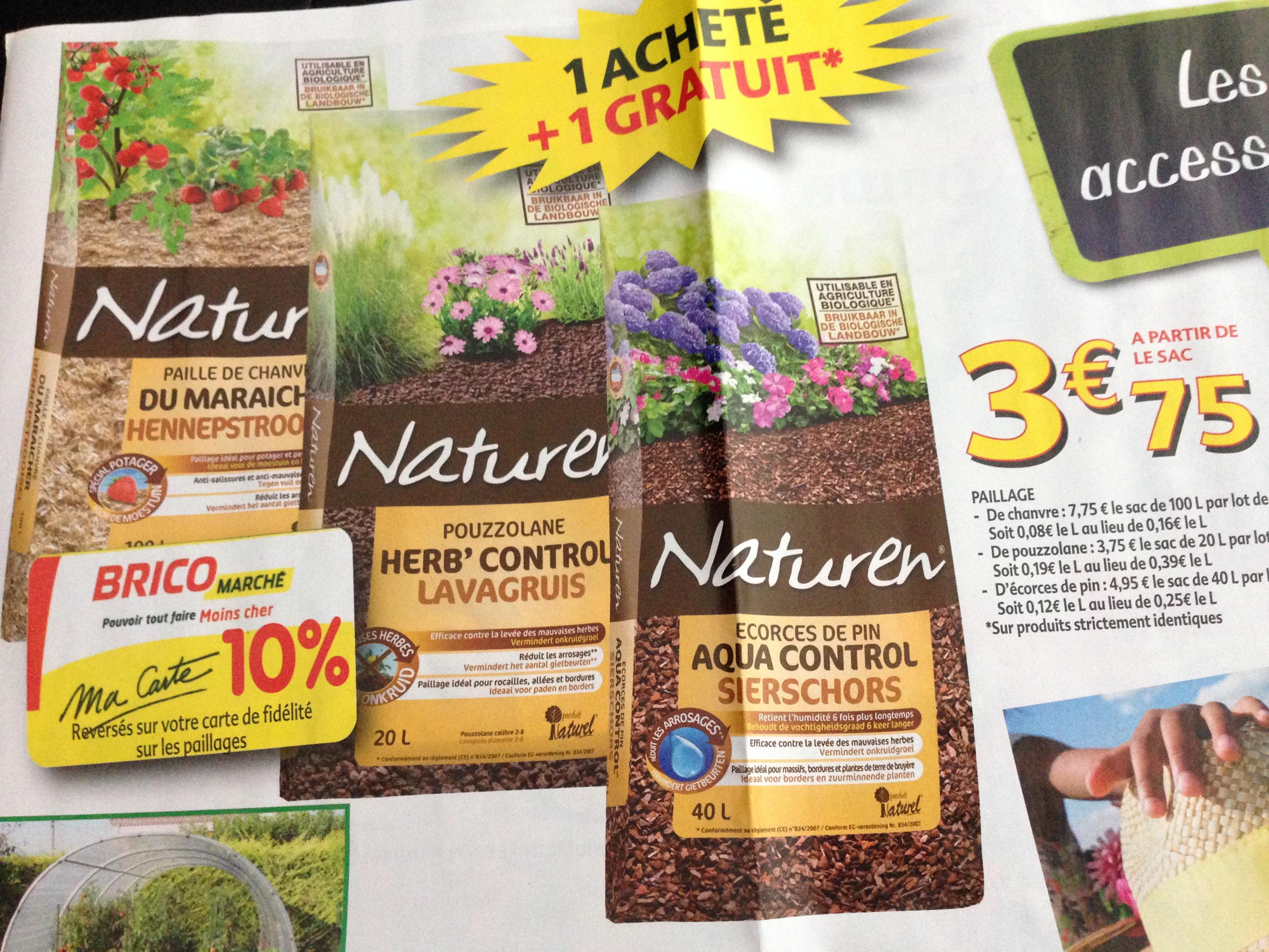 1 paillage Naturen acheté = 1 paillage gratuit - Ex : lot de 2 paillages de pouzzolane (20 L)