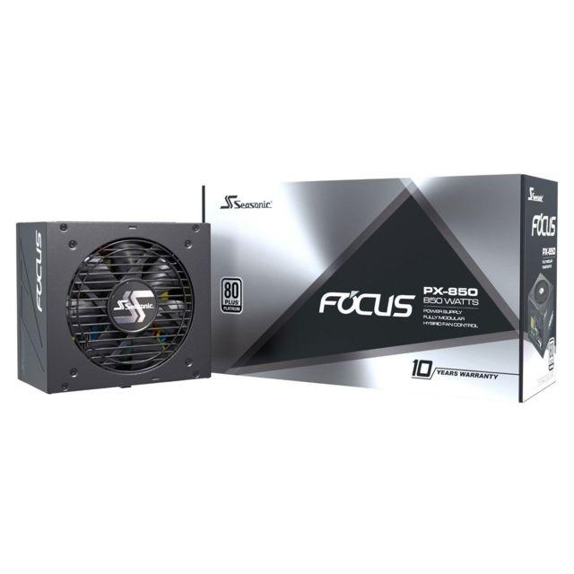 Alimentation PC modulaire Seasonic Focus PX-850 - 850W, 80 Plus Platinum