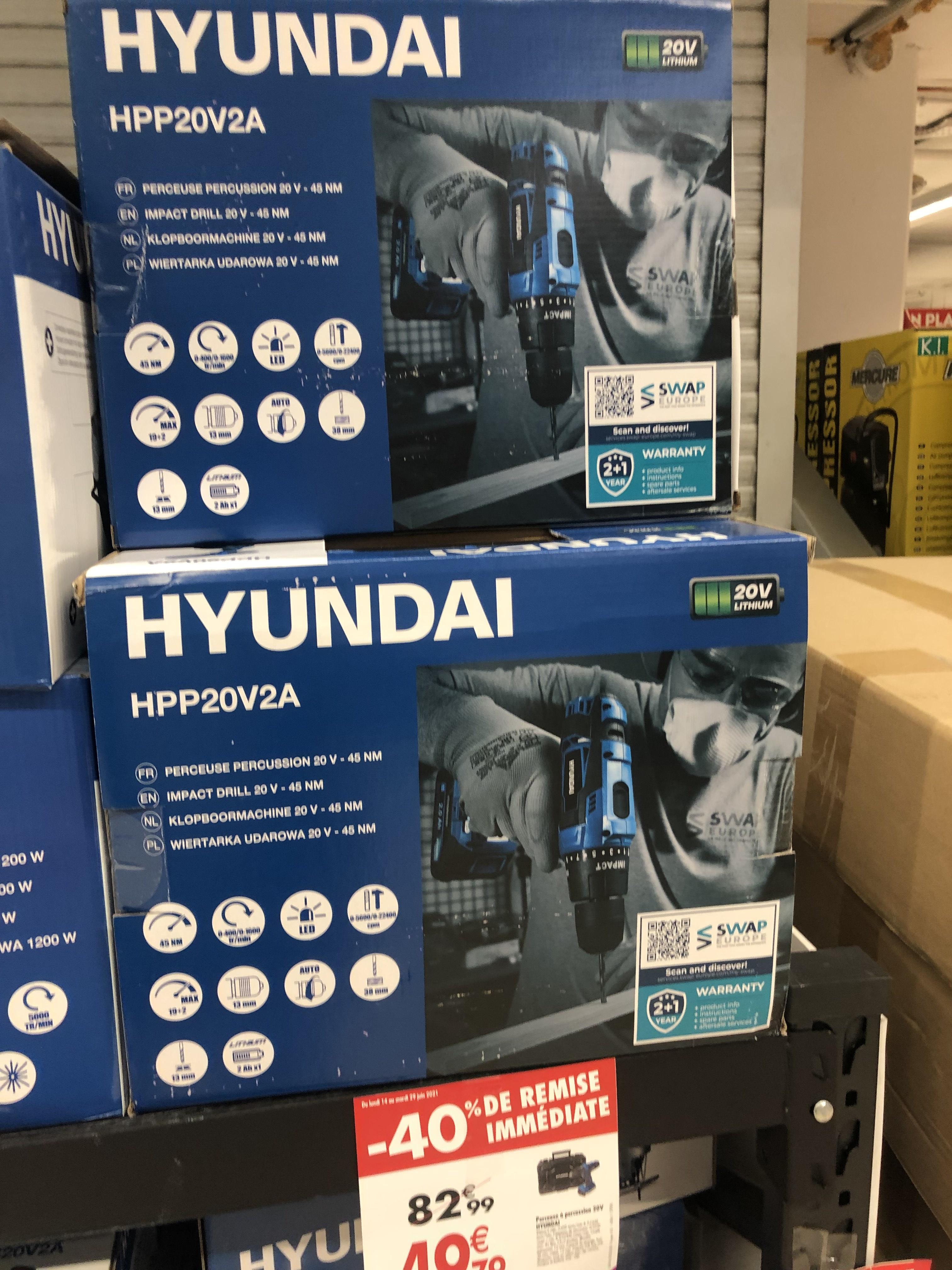 Perceuse visseuse Hyundai - 45nm, 20V + batterie 2Ah - Ivry-sur-Seine (94)