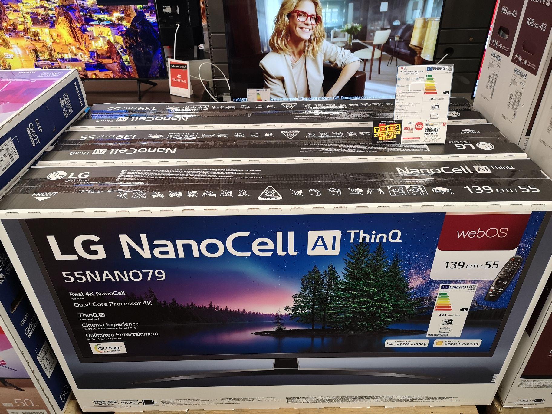 "TV 55"" LG 55NANO796NE - 4K UHD NanoCell AI Thinq - Hyper U Beaulieu (17)"