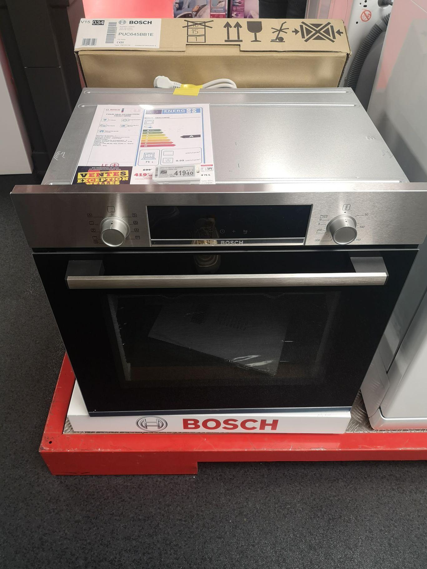 Four électrique à pyrolyse encastrable Bosch HBA573BR0 - Air pulsé 3D+, 71 L - Hyper U Beaulieu (17)
