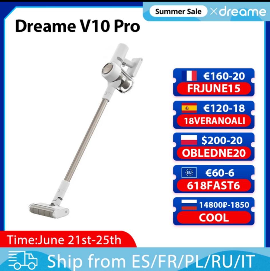 Aspirateur balai Dreame V10 Pro (Entrepôt Europe - 170.68€ via FRJUNE15)