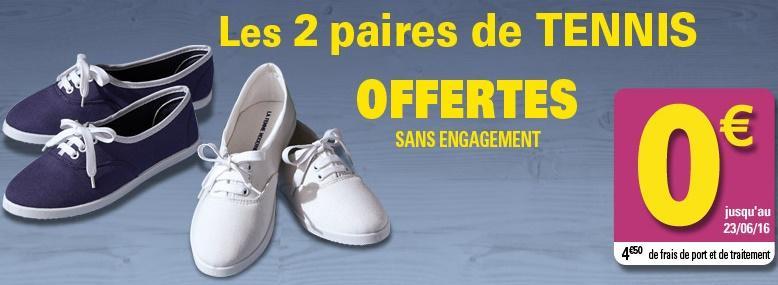Lot de 2 paires de Tennis offertes - Taille 37 à 41 (4.50€ de frais de port)