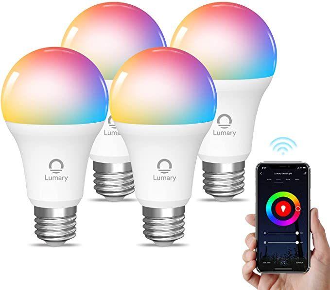 Lot de 4 Ampoules Connectées Lumary compatibles Alexa & Google + Ruban TV LED (Via Coupon - Vendeur TIers)