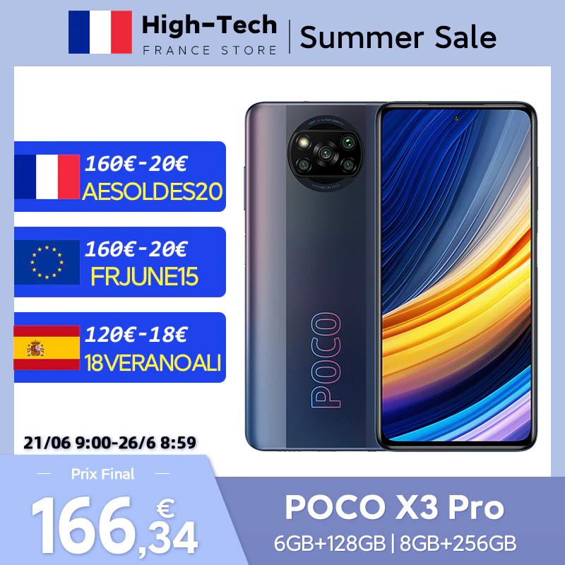 """Smartphone 6.67"""" Xiaomi Poco X3 Pro - 128 Go (166,34€ avec FRJUNE15) - Entrepôt France"""