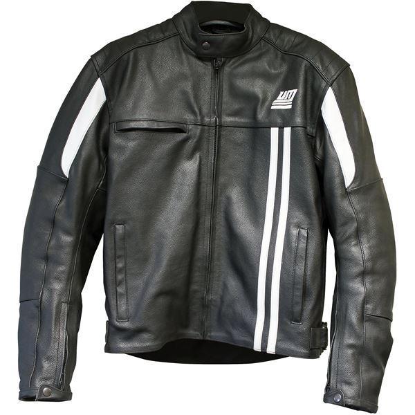 Blouson Moto Homme UM - Cuir, noir