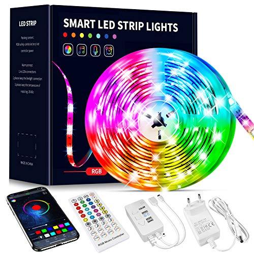 Ruban LED RGB - 10M, Contrôle via Application + Télécommande (Vendeur tiers)