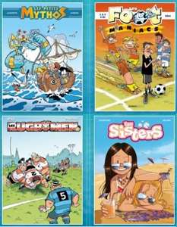 Opération BD: Sélection de titres à 1 € (Les Foot Maniacs, Les Petits Mythos , les Rugbymen, les Sisters)