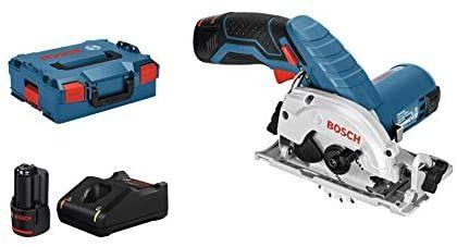 Scie circulaire Bosch Professionnel GKS 12 V-26 - 2 batteries 3,0 Ah, chargeur, L-Boxx