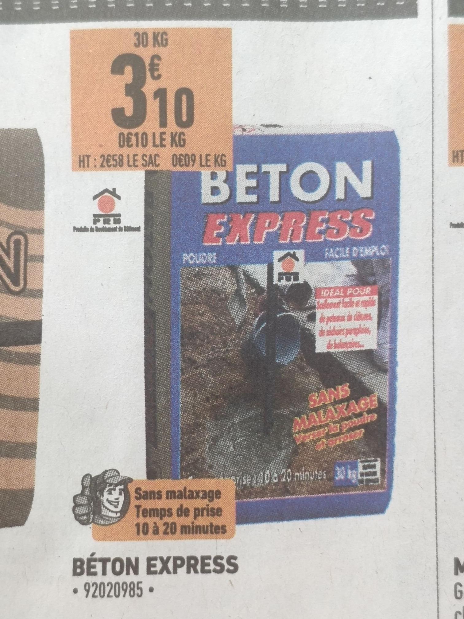 Sélection de produits en promotion - Ex: Béton express sans malaxage 30kg