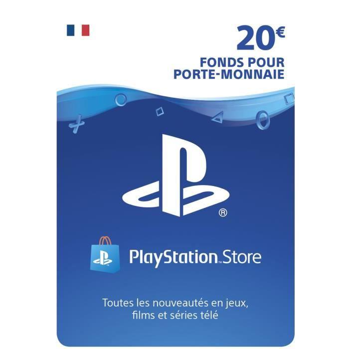 Carte Playstation Store de 20€ (Dématérialisée)