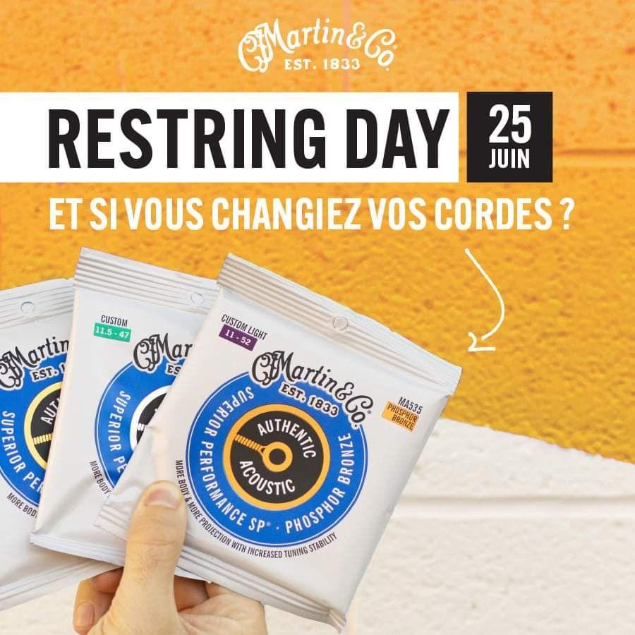 Changement & montage de cordes de guitare Martin & Co. gratuit - Arpèges Arras (62)